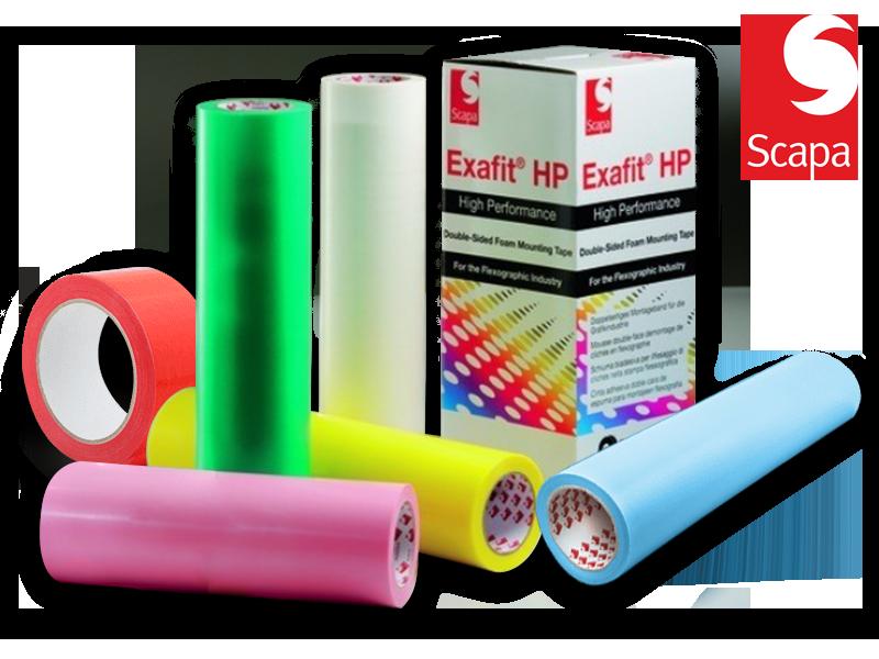 FITAS DUPLA-FACE  EXAFIT HP   PARA IMPRESSÃO FLEXOGRAFICA   - TotalFlexo - Soluções Para Impressão